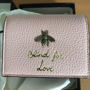 BRAND NEW GUCCI Animalier Continental Bee Wallet